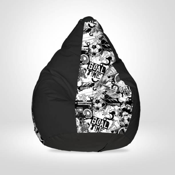 SPACEX XXXL Digital Printed Teardrop Bean Bag  With Bean Filling