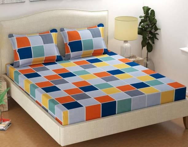 BEE WOW 180 TC Microfiber Double Printed Bedsheet