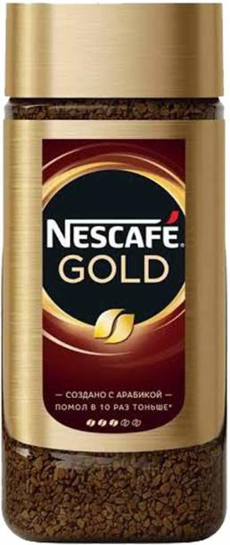 Nescafe Gold Instant Sublimated Coffee in Glass Jar Bottle, 95 g Instant Coffee