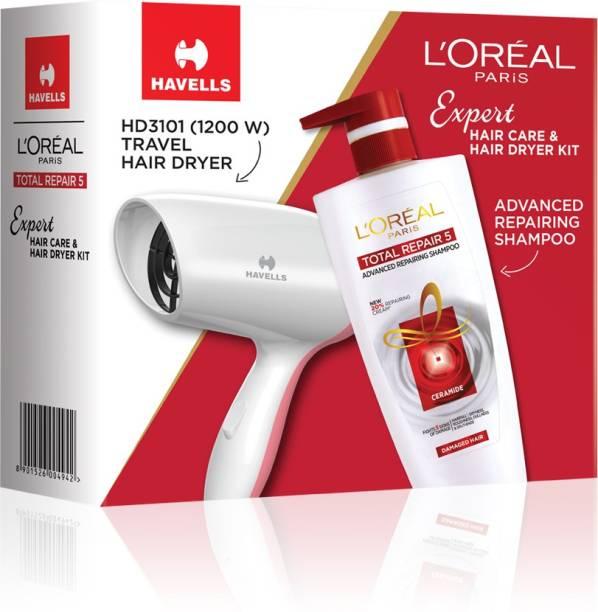 L'Oréal Paris Total Repair 5 Shampoo 704ml with Havells Hair Dryer
