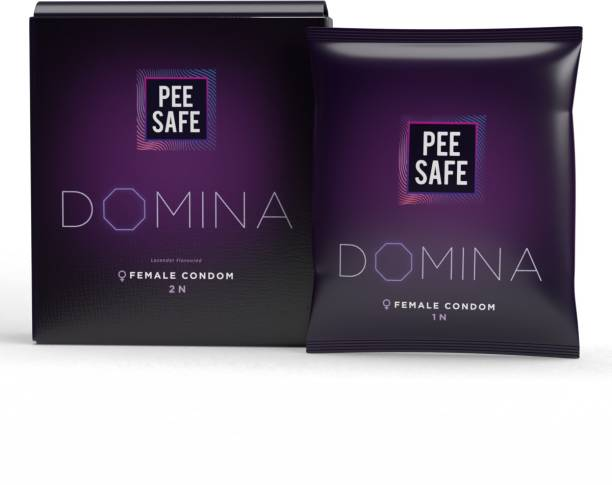 Pee Safe Domina Female Condom - Set of 2 | With 2 Disposable Bags Condom