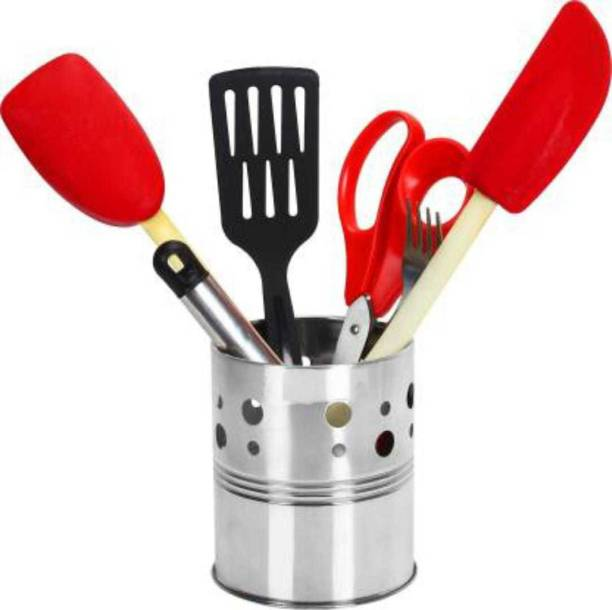generation bass Stainless Steel Duo Spoon Holder with Stand Disposable Steel Cutlery Set