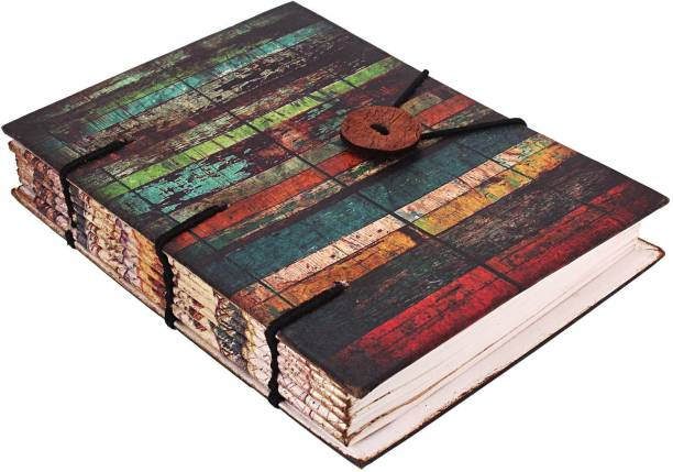 CRAFT CLUB Vintage stripes print in special binding notebook Regular Journal Unruled 144 Pages