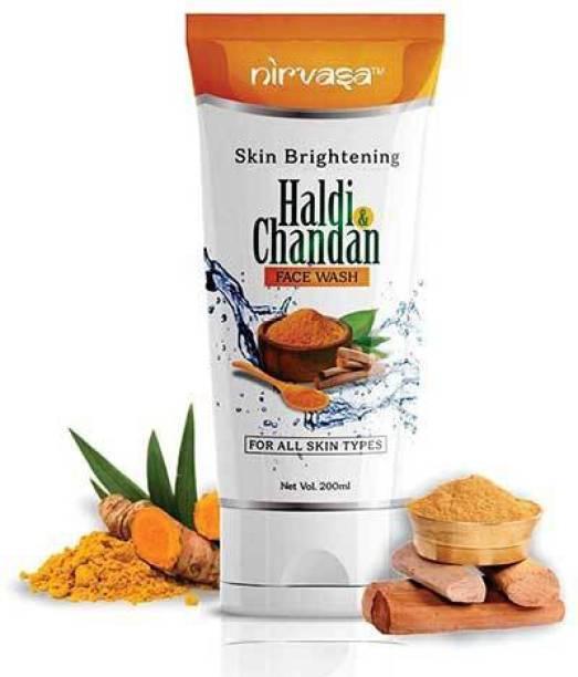 Nirvasa Natural Skin Brightening Haldi & Chandan  for Men & Women Face Wash