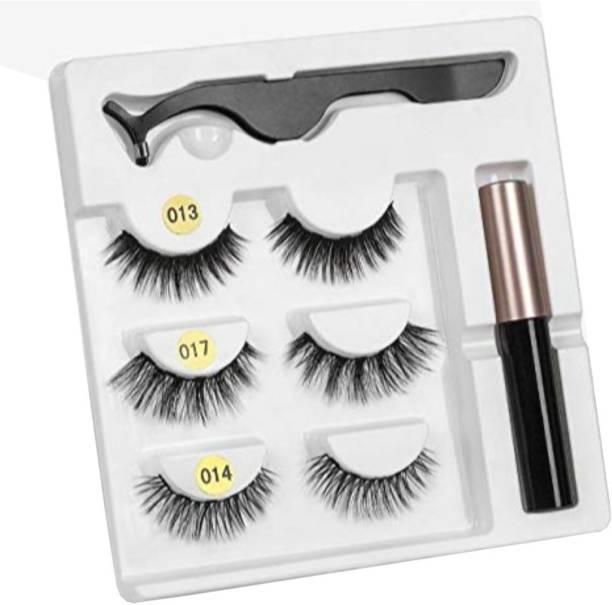 Vinayakart Style False Magnetic Eyelashes Eyeliner With Fluid and Special Tool Set