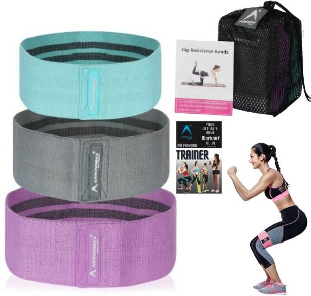 Arrowmax FABRIC ANTI SLIP HIPS,GLUTES,BOOTY STRETCHING BANDS Fitness Band