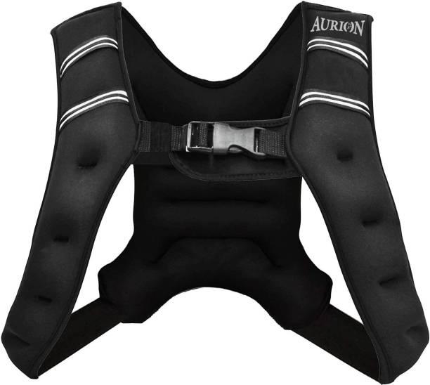 Aurion 10 Kg Weighted Vest Workout Equipment, 5 kg Body Weight Vest for Men, Women, Kids Black Weight Vest