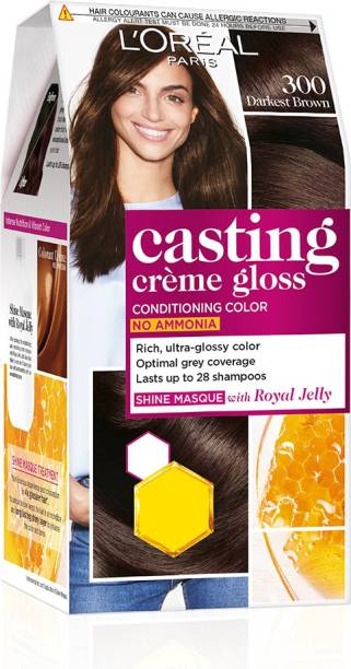 L'Oréal Paris Casting Creme Gloss Hair Color , Darkest Brown 300