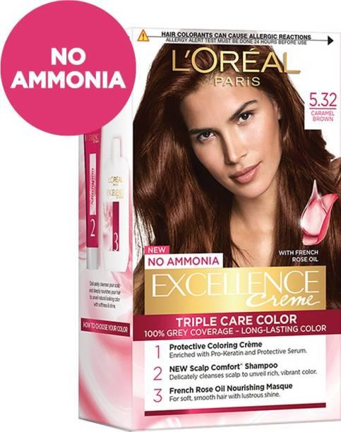 L'Oréal Paris Excellence Creme Hair Color , 5.32, Caramel Brown