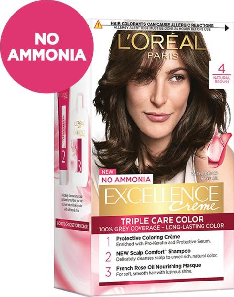 L'Oréal Paris Excellence Creme Hair Color , Natural Brown