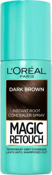 L'Oréal Paris Magic Retouch Temporary Root TouchUp Hair Colour Spray , 2 DARK BROWN