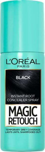 L'Oréal Paris Magic Retouch Temporary Root TouchUp Hair Colour Spray , 1 BLACK