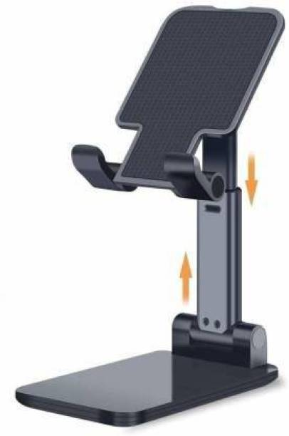EFTSOON Mobile Stand Holder Foldable Angle & Height Adjustable Desk Cell Phone Holder Anti-Slip Compatible with Smartphones iPad Mini Game Kindle Tablet For Desk, Bed, Table, Office, Video Recording, Home & Online Classes Use Mobile Holder Mobile Holder