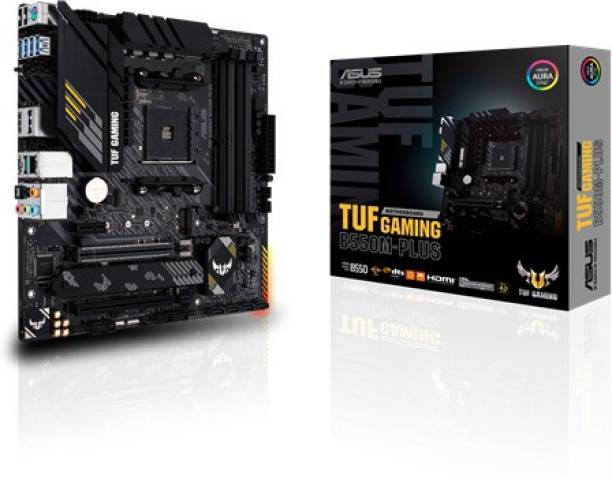 ASUS TUF GAMING B550M-PLUS AMD AM4ATX with Addressable Gen 2 RGB Header and Aura Sync Motherboard