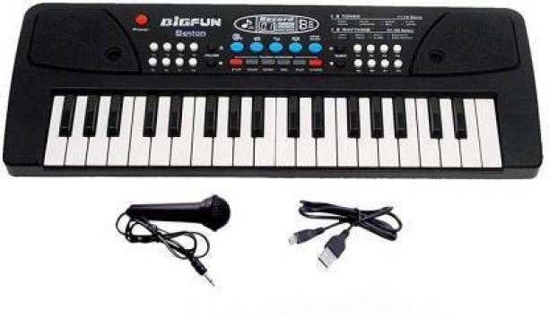 Freshh Club 37 Keys Big Fun Musical Electronic Keyboard Piano Organ with Microphone