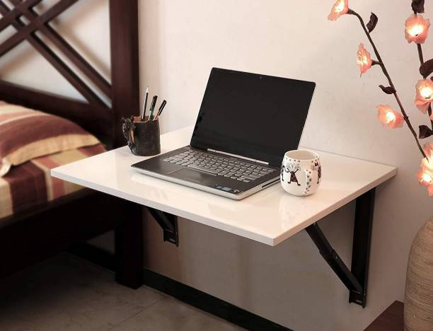 Love Baby Products Wall Mounted Laptop/Study/Dining Table for Kids + Adult Study Desk Folding/Portable Table (L) 80 x (W) 45 x (H) 33.5 CM) White Engineered Wood Study Table