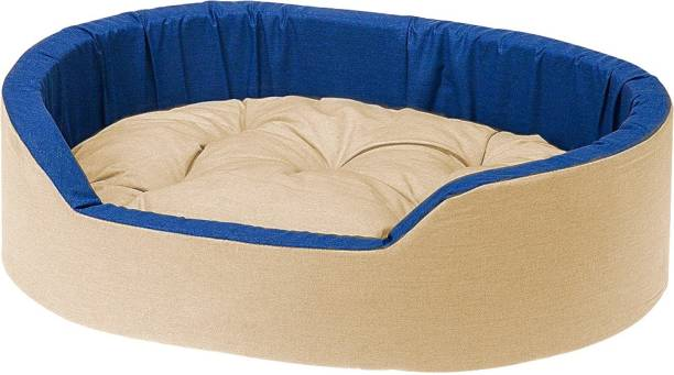 Dogerman Reversible Super Soft Velvet Foam Oval Cat Dog Pet Bed S Pet Bed