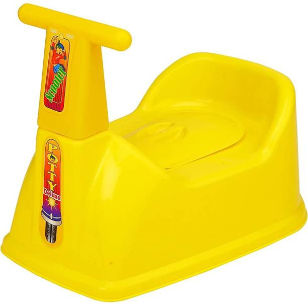 Snazzynest Scooter Style Baby Potty with Removable Lid for Easy Cleaning (Yellow) Potty Seat
