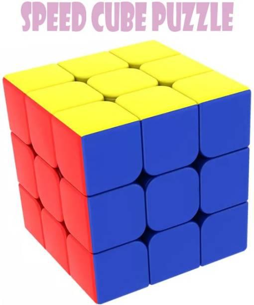 BOZICA BEST BUY Rubik cube 3x3 cube high speed stickerless magic Pyramid cube brain storming Puzzle Learning Educational kids toy|soft Twist Pyraminx Cube