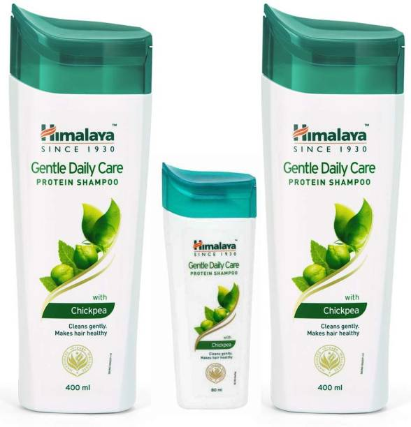 HIMALAYA Gentle Daily Care Protein Shampoo with Chickpea 2X400+80ml Each