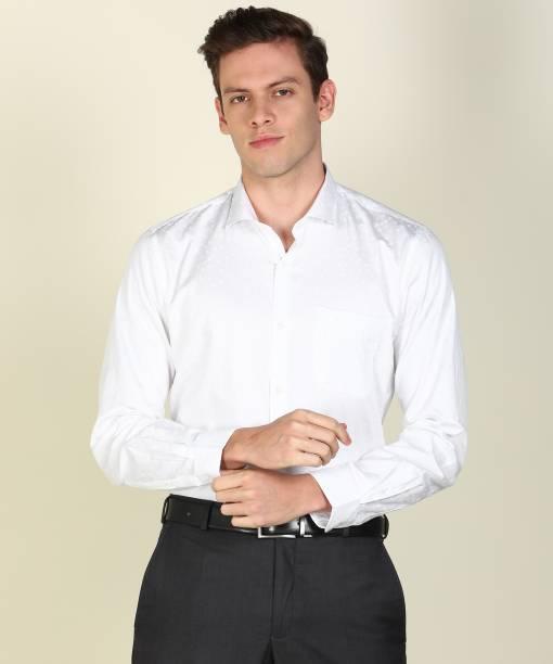 PETER ENGLAND Men Printed Formal White Shirt