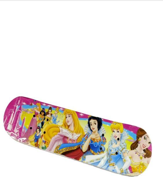 NSHIVA BARBIE Wood-Composite Skateboard 23INCH X 6 INCH , Medium (Multi-Color) 6 inch x 23 inch Skateboard