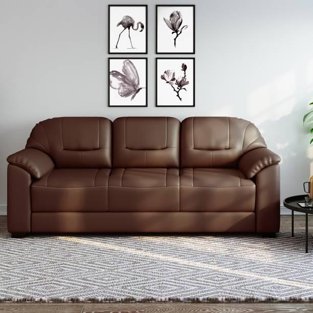Bharat Lifestyle Levo Leatherette 3 Seater  Sofa