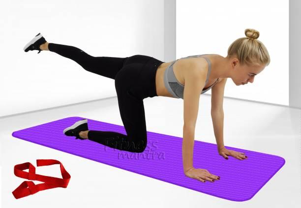 Fitness Mantra Premium Eco Friendly Non Slip Yoga Mat With Strap Purple 6 mm Yoga Mat