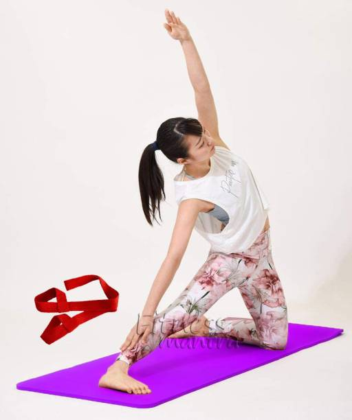 Fitness Mantra 6MM Anti Skid Surface Yoga Mat with Carrying Strap (Vocal For Local) Purple 6 mm Yoga Mat
