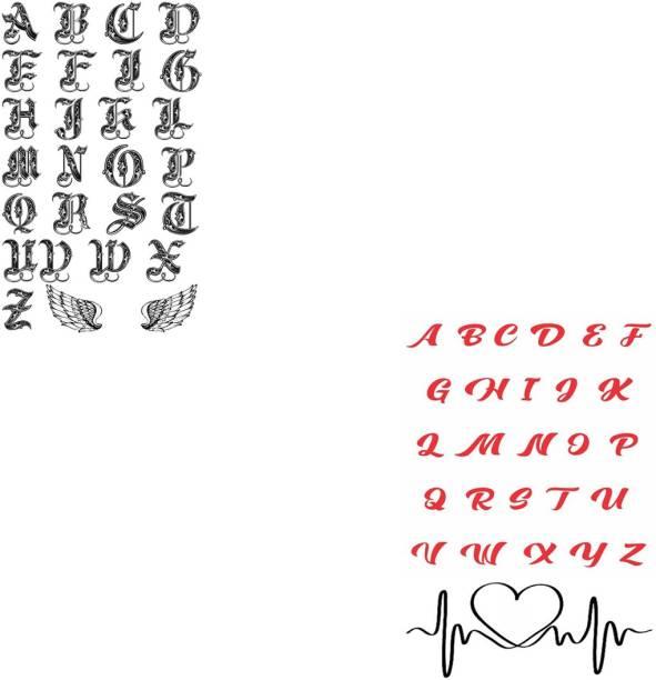 voorkoms Name Alphabet Later Tattoo Waterproof Men and Women Temporary Body Tattoo