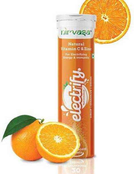 Nirvasa Electrify Vitamin C & Zinc Effervescent Tablets to Boost Immunity – 20 Tablets