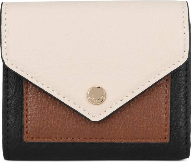 Dune London Women Black, Beige Artificial Leather Wallet