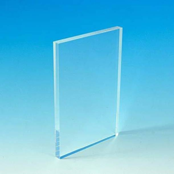 laxmi acrylic Universal Imported Acrylic Sheet Plexiglass (Transparent, 6 X 4 Inch, 2 mm Thickness) 6 inch Acrylic Sheet