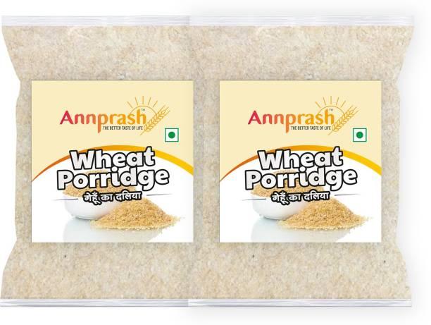 ANNPRASH Premium Quality Wheat Porridge /Gehun Daliya - 2kg (1kgx2)