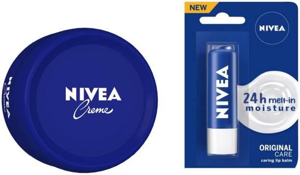 NIVEA Creme 200 Ml + Lip Balm