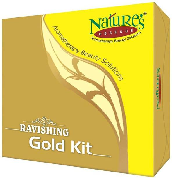 Nature's Essence RAVISHING GOLD KIT Gold dust enriched facial kit which gives a long lasting shine appearance to the skin