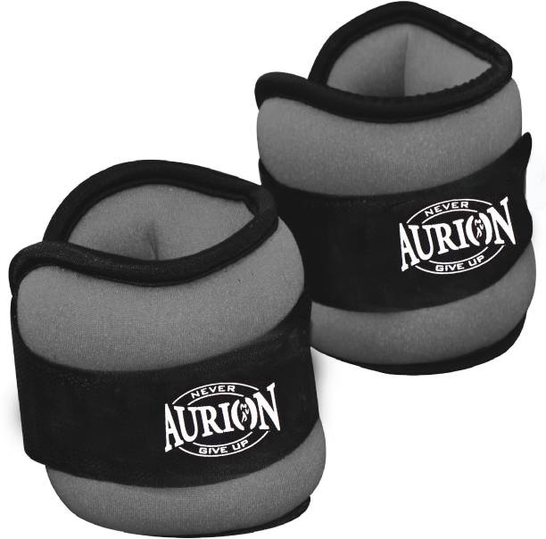 Aurion 1 KG X 2 Pro Quality Adjustable for Walking Running for Grey Ankle & Wrist Weight