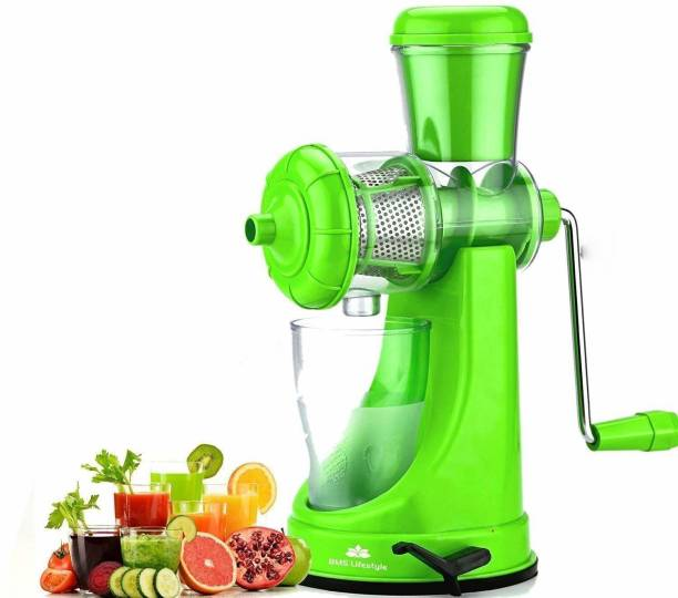 Feminoor Plastic Hand Juicer Fruit and Vegetable Juicer with Steel Handle and Waste Collector with Vaccum Locking System Hand Juicer, Fruit Juicer for All Fruits, Juice Maker Machine, Juicer Hand Machine