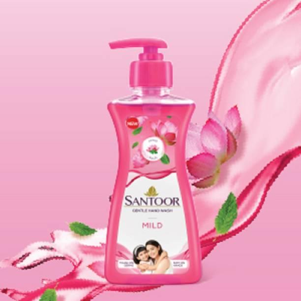 santoor hand wash new mild 200 ml pack of 3 pc Hand Wash Pump Dispenser