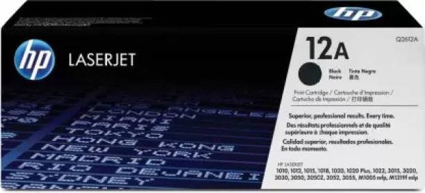 hp LASERJET 12A Black Original LaserJet Toner Cartridge (Q2612A) Black Ink Toner