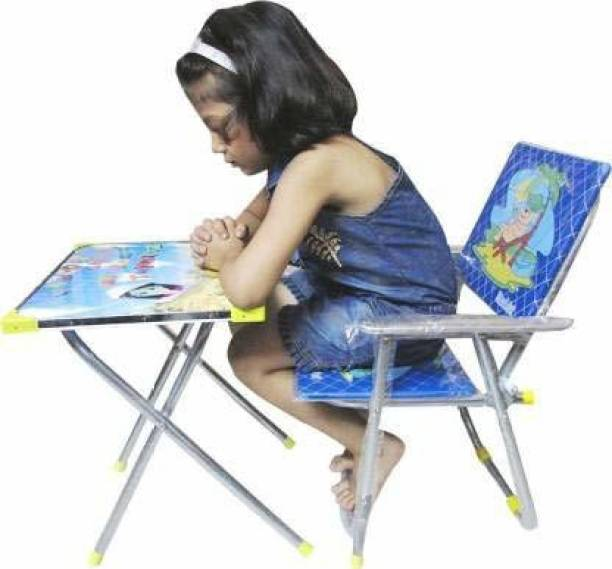 S.S Steelo Art S.S Steelo Art Kids Table and Chair Set Red Solid wood Desk Chair (Finish Color - Blue) Metal Desk Chair