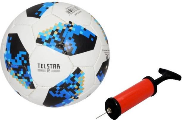 DIBACO SPORTS COMBO BLUE TELSTAR FOOTBALL WITH AIR PUMP Football Kit