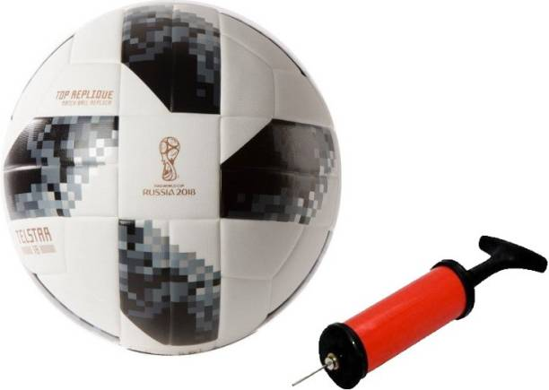 DIBACO SPORTS COMBO BLACK TELSTAR FOOTBALL WITH AIR PUMP Football Kit