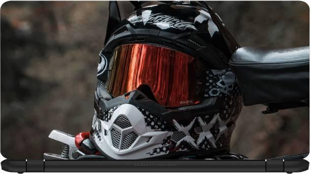 STORESOME helmet motorcycle bike 4K 4K Premium vinyl Laptop Decal 15.6