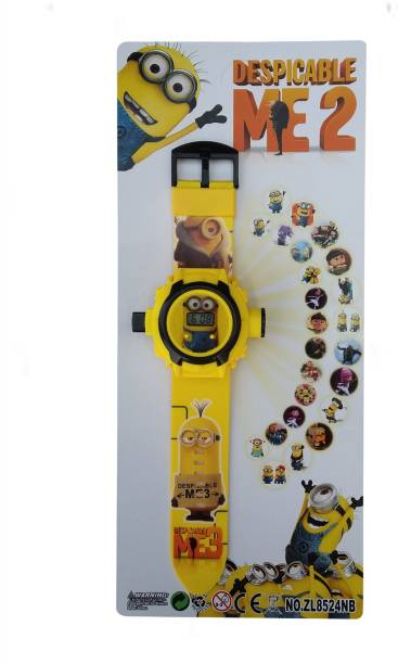 Jainixi sales Despicable ME2 24 Images Projector Digital Toy Watch for Kids