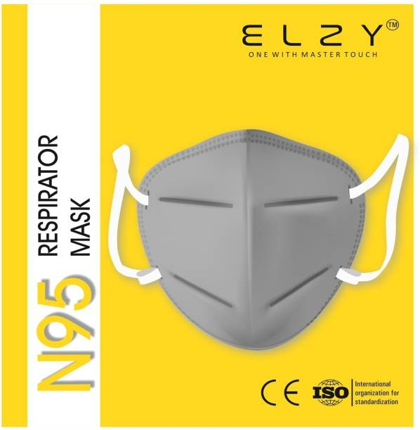 ELZY N95 N95 MASK GREY PACK OF 10 PIECE 5 Layer Reusable Anti - Pollution , Anti - Virus Breathable Face Mask N95 Washable for Men , Women and Kids mask respirator, Water Resistant, Reusable, Washable Free Size, Pack of 10 Water Resistant, Reusable, Washable