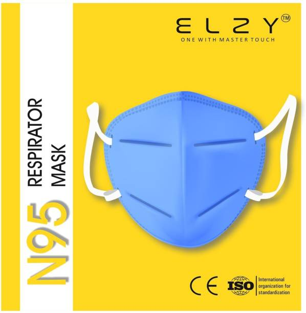 ELZY N95 N95 MASK SKYBLUE PACK OF 10 PIECE 5 Layer Reusable Anti - Pollution , Anti - Virus Breathable Face Mask N95 Washable for Men , Women and Kids mask respirator, Water Resistant, Reusable, Washable Free Size, Pack of 10 Water Resistant, Reusable, Washable