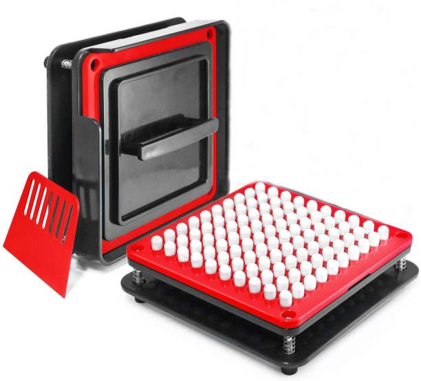 PATCO 100 Holes - Manual Empty Red/Black Capsule Filling Machine/Powder Filler Board   Capsule Filling Tray (Size 00 Capsules - 950 mg Powder Filling) Reusable Medical Tray