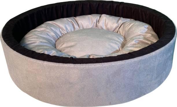 Dogerman Reversible Dual Colour Soft Foam Velvet Round Cat Dog Pet Bed S Pet Bed