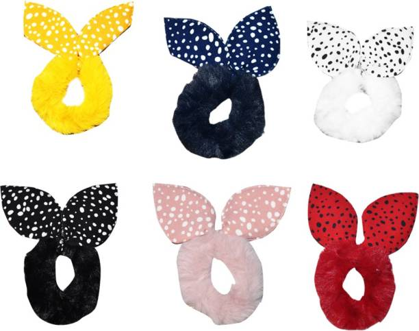 SHD Collectons Fluffy Soft Fur Elastic Multicolour Hair Rubber Bands for Kids Girls Women (Pack of 6) Rubber Band Rubber Band